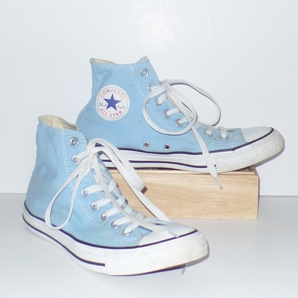 53f91cb740d1e8 Converse Shoes - Baby Blue Converse All Star High Tops 10 Mens 8